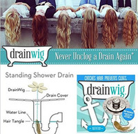 Wholesale DrainWig Shower Drain Hair Catcher in a bag Universal Hygienic Bathroom Kitchen Sink Bath