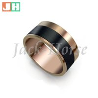 Wholesale High quality jewelry coffee coated men s stainless steel ring fashion circle style ring new arrival