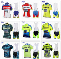 Wholesale Saxo Bank New Tinkoff Cycling Bib Sets Fluorescence Color Camo Cycling Clothes Bike Jersey Set Cycle Bib Shorts Size S XL