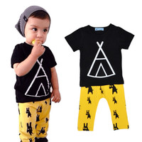 Cheap Girl Bobo Choses Boy Clothing Set Best Summer Cotton + Polyester Geometric Pattern Baby Girl Clothes