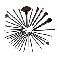 best cheap makeup brush sets - 24pcs Available Makeup Brush Set Pink PU Pouch Cheap Makeup Brush Kits Aluminum Hair Holder Best Makeup Brushes