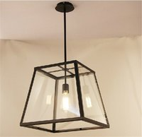 bedroom hardware - RH Lighting LOFT Pendant Light Restoration Hardware Vintage Pendant Lamp Filament Pendant Edison Bulb Glass Box RH Loft lights Hanging Light