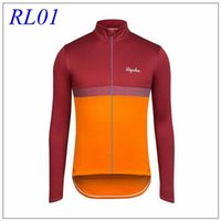 bicycle fittings - 2015 Long Sleeve Rapha Cycling Tops Blue Green Red Grey Men Winter Thermal Fleece Warmer Cycling Jerseys Close Fitting Bicycle Clothes