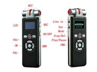 Wholesale 8GB T80 recorder professional LCD portable mini recorder MP3 Player and LED Screen
