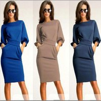 ladies office clothes - Sexy Women Dress New Fashion Casual Ladies Summer Dresses Long Dresses Stretch Work Office Clothes Plus Size