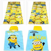 Wholesale Hot sale3 styles Despicable Me towel minions cloak towels Printed Cotton Towel Baby Cartoon Bath Towels Kids Beach Towels