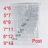 Revisiones Pequeñas bolsas de plástico adhesivo transparente-PE Bolsas de plástico transparente Zip cerraduras Ziplock Zipper Poly OPP autoadhesivo sello Embalaje Embalaje para la venta al por menor Recyclable 7C Small Post