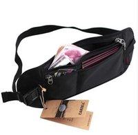 Wholesale High Quality Slim Zipped Hidden Waterproof Security Travel Waist Belt Money Passport Bag
