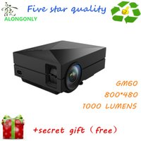 Wholesale 2015 NEWEST MINI Portable Projector GM60 HD Home AND OUTDOOR Theater For Video Games TV Movie Support HDMI VGA AV SD