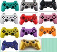 Wholesale Wireless Bluetooth Game Controller for Playstation3 PS3 Console Video Games Controller Joystick Gamepad SixAxis Vibration Top quality dhl