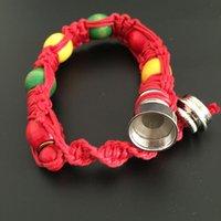 Wholesale 2015 bracelet bead smoking pipe for tobacco weed discreet sneak a toke click n vape ecig