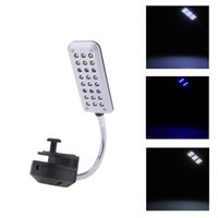 Wholesale Aquarium Fish Tank Lights Water Plant LEDs Clip Lighting Lamp Touch Switch Modes White Blue Flexible