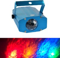 Wholesale MOQ100 Aquarium Light LED W Water Effect Lights Projector Single Color Red Yellow Blue Green White with EU US Plug Auto Sound Active Lamp