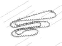 Cheap Free shipping wholesale cheap chains 2mm 18 inch ball necklace fashion jewelry ball chain