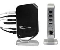 Cheap Wholesale-Hot Sale Generic 4 Port Networking USB 2.0 Networking Print Server M4b Printer Share 4 USB Port HUB Devices 100mbps 100m 1pcs