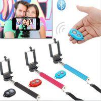 Wholesale Bluetooth Remote Controle Extendable Self Pau De Palo Selfie Stick Monopod Tripe Para Monope for iPhone Android Monopad Gopole