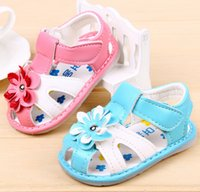 Wholesale new children s summer sandals soft soled baby shoes flower girl shoes baby sandals