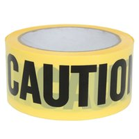 barricade tapes - 50mx5cm New Roll Yellow Caution Warning Adhesive Tape Sticker For Safety Barrier For Police Barricade Contractors Maintenance
