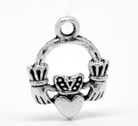 antique claddagh rings - Antique Silver Claddagh Ring Charm Pendants mmx14mm quot x quot B19790