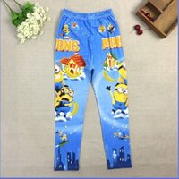 Wholesale 2015 New Arrival Girls and boy Despicable Me Minions Leggings Girl Minion Pants Kids Unisex Trousers Cartoon Children Clothing E058