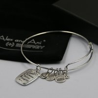 Wholesale Hot sale New arrive Alex and Ani bangles with charms mm fashion bangles with free box and bag