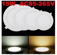 No 85-265V 2835 3W 4W 6W 9W 12W 15W 18W LED Panel Light Super Bright CREE LED Ceiling Downlight AC 100-245V For Indoor Lighting