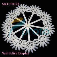 Cheap Natural Sunflower Nail Polish Display Sticks with Ring Nail Art Display Color Chart Ring Holder Nail Tools SKU:F0122