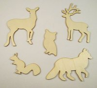 antique christmas ornaments - Deal Lovely Animal Wood Chips Fashion Christmas Party Home Decoration DIY Veneer Scrapbooking Crafts