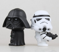 Wholesale Newest Q Star War Darth Vader STORM TROOPER Action Figure Model Toy For Kids in Retail Box EMS shipping
