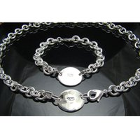 antiallergic dog - Set S174 Fashion Dog tag jewelry sets Neckalces Bracelets Sterling silver jewelry sets antiallergic