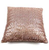 Wholesale Home Sequin Pillow Cushion Cover Zipper Pillow Case Home Room Sofa Throw Pillowcases