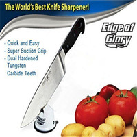 Wholesale Brand New Edge of Glory Knife Knives Sharpener Dual Teeth Pull Lock Suction With Logo Packing