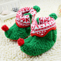 Wholesale Christmas children shoes girs boys cute socks baby shoes boots pair dandys