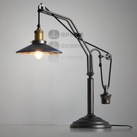 Wholesale The designer s lamp RH retro industrial wind Rural European restaurant paste paste mirror mirror lifting lamp