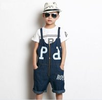 baby girl vintage clothes - Hot Vintage Boys Suspender Trousers Spring Baby Clothes Cotton Zipper Causal Basic Slim Girl Pants Children Trousers Blue K4768