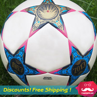 Wholesale 2013 European Cup Soccer Ball European champions league ball seamless PU granules slip resistant Football