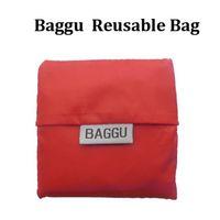 Wholesale New item Baggu Tote Bags Candy Colors Reusable Shopping Bag Portable Folding Pouch Lunch Bag Purse Handbag Enviorment Safe Go Greenbetterbuy
