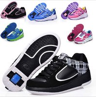 Wholesale FASHION roller shoes boy girl kids Heely shoes for kids Sneakers breathing Pu leather one sliding wheel roller shoes size hot