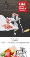 Wholesale High quality stainless steel Manual Meat Grinder Mincer Table Hand Crank Tool for Kitchen Food grade stainless steel