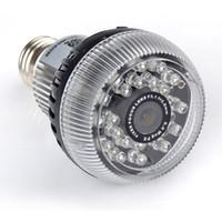 Wholesale High resolution camera color CMOS Spy Hidden Bulb DVR Security Camera PIR Motion Detection Spy Video Recording wifi White IR LED lights