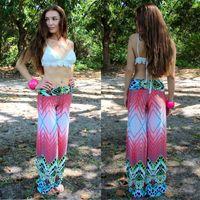 palazzo pants - 2015 Summer Women Pants pantalones Casual High Waist Flare Wide Leg Long Pants Palazzo Trousers Plus Size Floral Classic