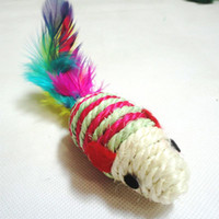 Wholesale Baby Kid Playing Toy Funny Rat Toys Sisal Little Mouse Ball Toy cm Random Color
