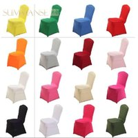 Cheap Wedding Chair Chair Covers Best Spandex / Polyester  Polyester Spandex