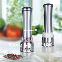 Metal pepper mill - Stainless Steel Manual Salt and Pepper Mill Grinder for cooking kitchen