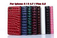 2 en 1 Piedra cocodrilo serpiente bolsa de cuero de la carpeta para Iphone 6 6G 4,7 / Plus 5.5 / 5 5S caso de la tarjeta de crédito del monedero de piel de la cubierta 40PCS