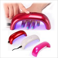 Wholesale Factory Direct Nail Dryers W LED Mini Portable Curing Lamp Rainbow Shaped Machine for UV Gel Nail Polish DHL A