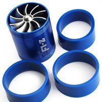 air intake tornado - Tornado Dual Supercharger Turbo Turbonator Air Intake Gas Fuel Saver Fan Blue Car Accessories HA10226