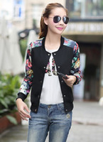 Wholesale 2015 new Fashion women jacket Casual Autumn Woman printing Baseball jacket Cardigan women coat plus size women Sun protection jacket black