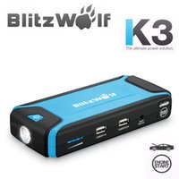 Wholesale BlitzWolf K3 A mAh Car Jump Emergency Starter Multi Function Dual USB Power Bank Portable Charger Mobile Safety order lt no track
