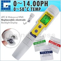 auto recognition - WQ PH002 pH Meter Temperature with Auto Buffer Recognition Tester Replaceable Electrode Waterproof Dual Display